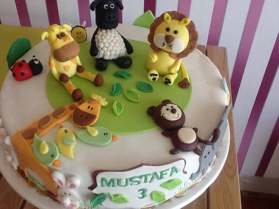 Astonishing Jungle Themed Cake Sekercake Funny Birthday Cards Online Elaedamsfinfo